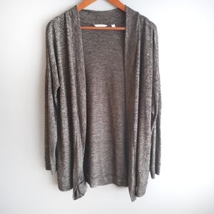 Reitmans Long cardigan in dark grey size S